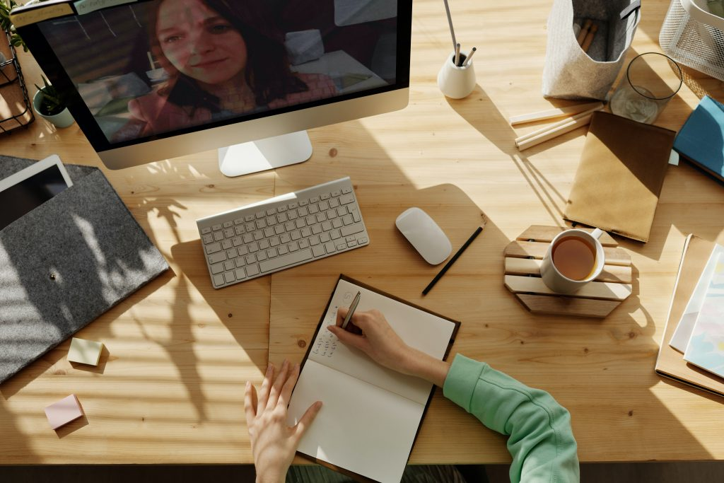 Working remotely allows you to hold virtual meetings with clients.